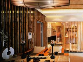 竹子装修日式餐厅效果图