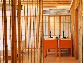 简约餐厅竹子装修效果图