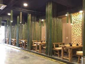 竹子装修餐厅大厅效果图
