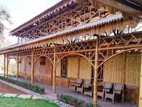 度假村竹子装修房子图片