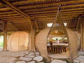 极具禅意的竹子装修房子图片
