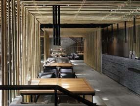 竹子装修室内新中式效果图