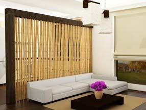 竹子装修室内背景墙效果图