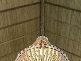 竹子装修室内吊顶效果图