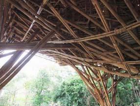 竹子装修花园吊顶效果图