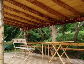 竹子装修花园凉棚效果图