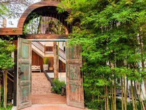 竹子装修花园大门效果图