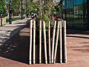 竹子装修花园花台效果图