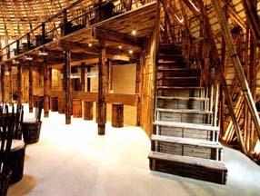 竹子装修酒吧楼梯效果图