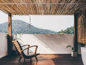 竹子装修露台吊顶效果图